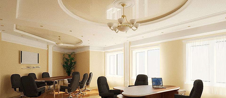 Потолки в кабинете дизайн